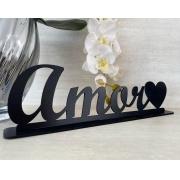 Enfeite decorativo de mesa Amor 35cm MDF