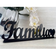 Enfeite decorativo de mesa Família 40cm MDF