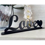 Enfeite decorativo de mesa Love 35cm MDF