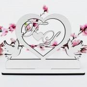 Kit Lembrancinhas de Casamento MDF Branco Iniciais