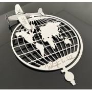 Porta Alianças Avião em MDF Branco 26cm