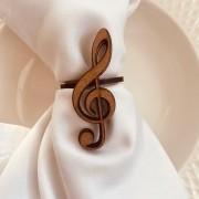 Porta Guardanapos clave de sol música  MDF Cru Casamento