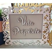 Quadro Personalizado Vida Propósito - Casamento 35 x 30cm