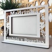 Ref. 105 - Quadro Porta Retratos MADRINHA Casamento (1 peça) - MDF Branco
