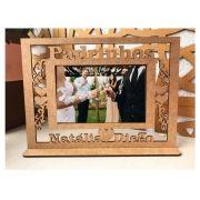 Ref. 104 - Quadro Porta Retratos Padrinhos Casamento - MDF Cru