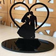 Ref. 001 - Centros de Mesa Acrílico Noivos Casamento 20cm