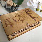 Ref. 003 - Caixa Personalizada MDF Cru 22x15cmx5cm Padrinhos