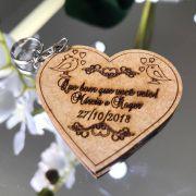 Ref. 004  - Chaveiros Casamento Personalizado MDF CRU