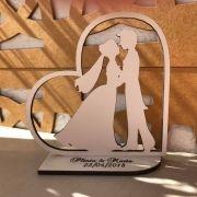 Ref. 005 - Kit Lembrancinhas de Casamento MDF Branco Coração Noivos 3