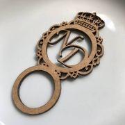 Ref. 005 - Porta Guardanapos Brasão MDF Cru Casamento