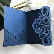 Ref. 007 - Envelope para Convite Casamento 13x18cm Corte a Laser Arabesco Papel Color Plus 180g