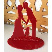 Ref. 008 - Centros de Mesa Acrílico Noivos Casamento 20cm