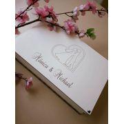 Ref. 011 - Caixa Lembrança Personalizada MDF Branco 24x18cmx6cm