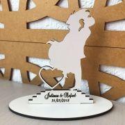 Ref. 015 - Kit Lembrancinhas de Casamento Personalizadas MDF Branco Noivos