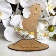 Ref. 015 - Kit Lembrancinhas de Casamento Personalizadas Noivos MDF Cru