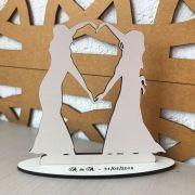 Ref. 018 - Kit Lembrancinhas de Casamento Personalizadas MDF Branco Noivas