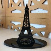 Ref. 021 - Topo de Bolo Acrílico Paris Casamento ou Debutante