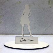 Ref. 029 - Topo de Bolo MDF Branco Debutante 15cm 15 anos
