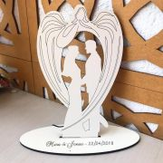 Ref. 036 - Topo de Bolo MDF Branco Noivos 15cm Casamento