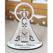 Ref. 050 - Kit Lembrancinhas de Casamento MDF Branco Nossa Senhora
