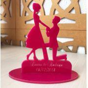 Ref. 051 - Centros de Mesa Acrílico Noivos Casamento 20cm