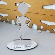 Ref. 053 - Kit Lembrancinhas Debutante 15 anos Black Power Personalizadas MDF Branco