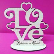 Ref. 065 - Kit Lembrancinhas de Casamento MDF Branco Love Coração