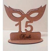 Ref. 066 - Kit Lembrancinhas Debutante 15 Anos Máscara - 10cm - MDF Cru