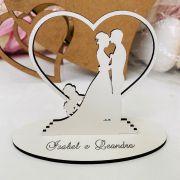 Ref. 069 - Kit Lembrancinhas de Casamento MDF Branco Cachorrinho Poodle Noivos