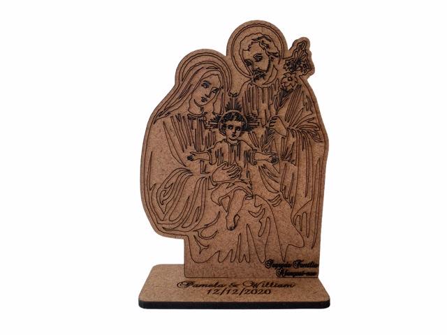 Kit Lembrancinhas Sagrada Família 10cm  MDF cru