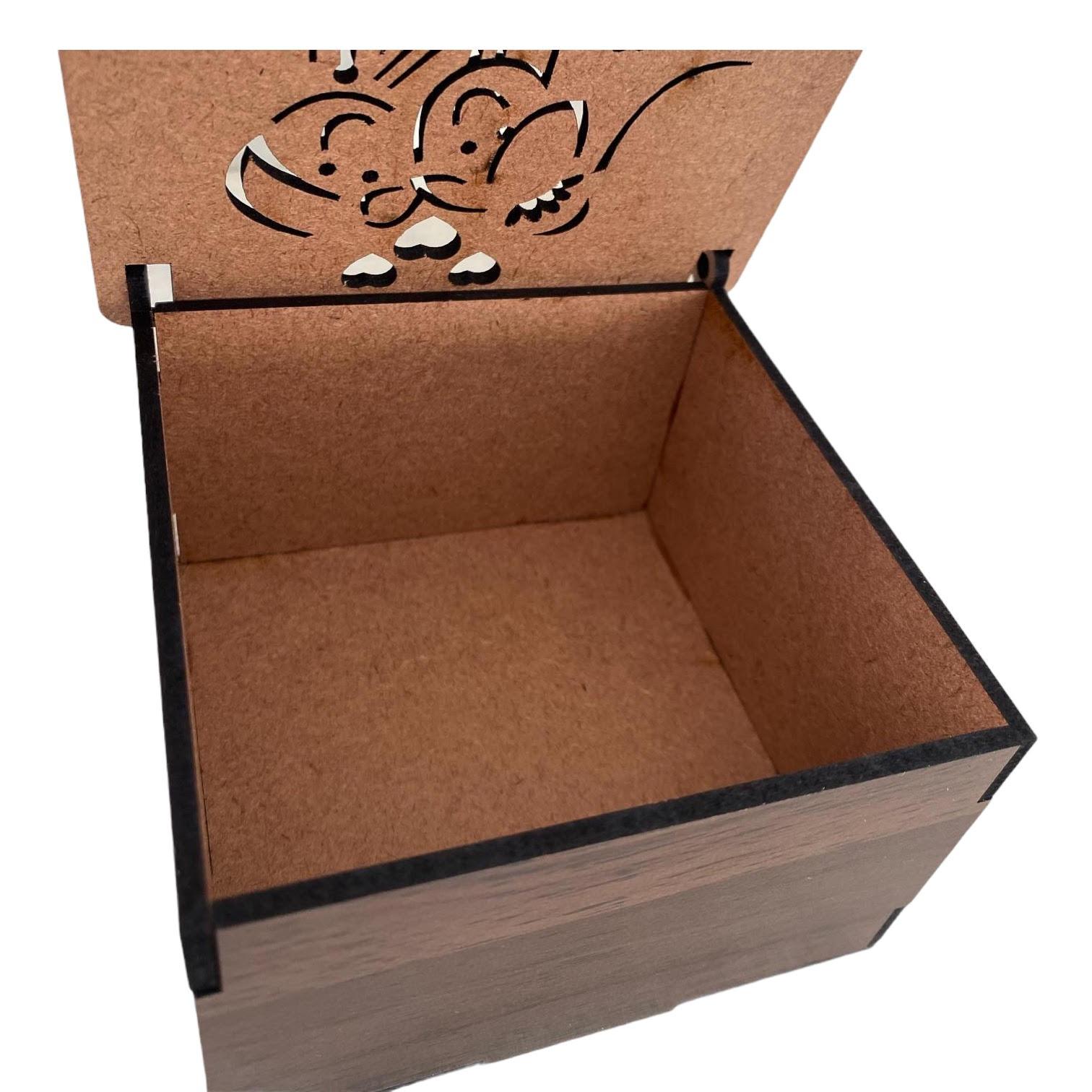 Ref. 002 - Caixa MDF Laminado 10x10cmx6cm Noivinhos
