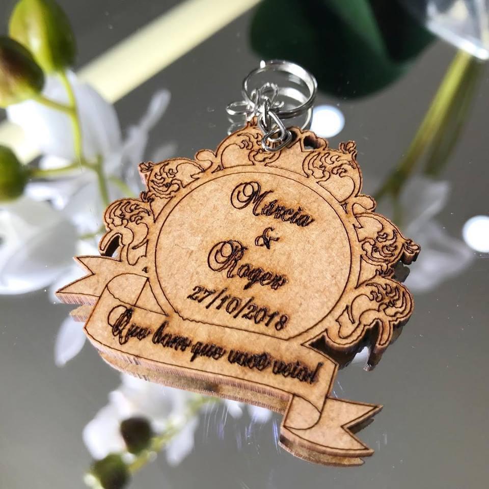 Ref. 006  - Chaveiros Casamento Personalizado MDF CRU Provençal