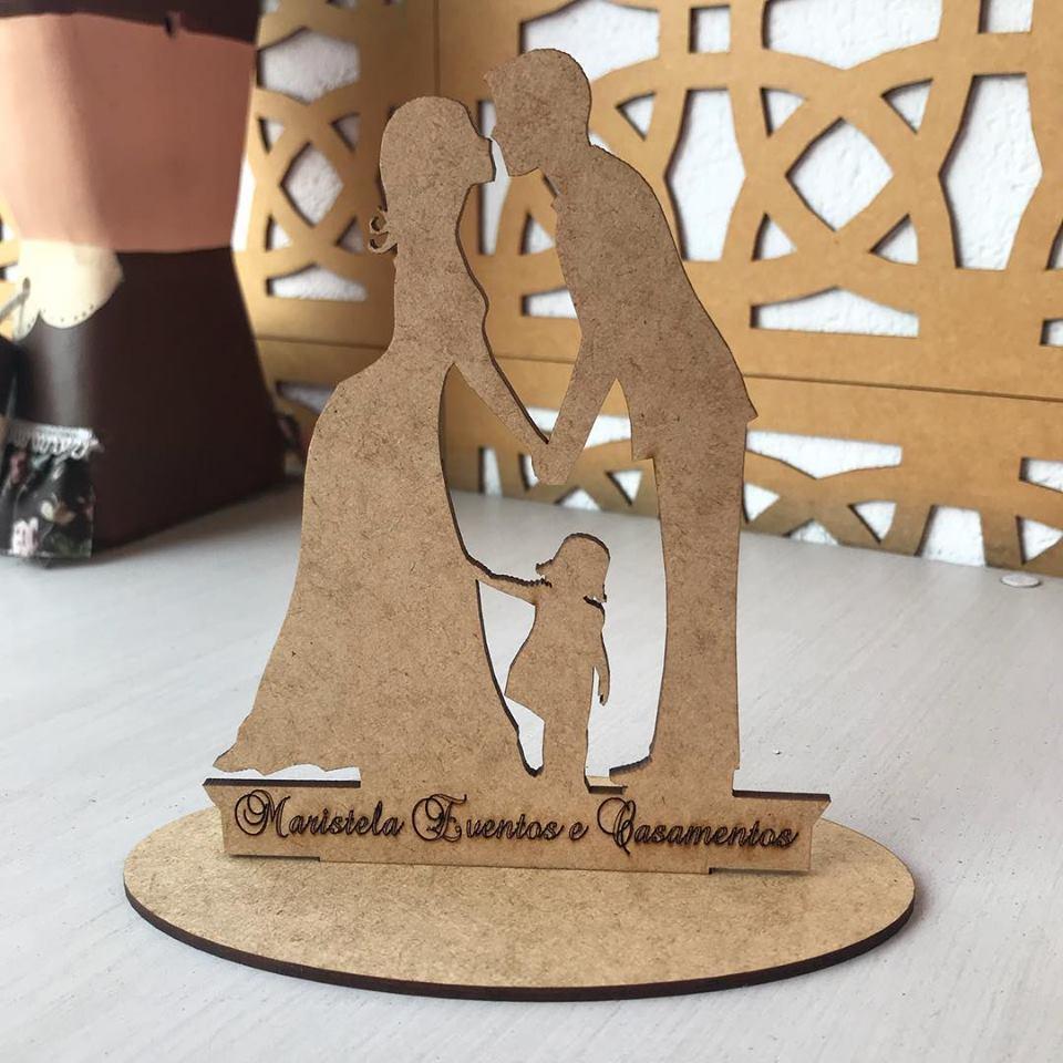 Ref. 008 - Kit Lembrancinhas de Casamento Personalizadas MDF Cru Noivos Menina