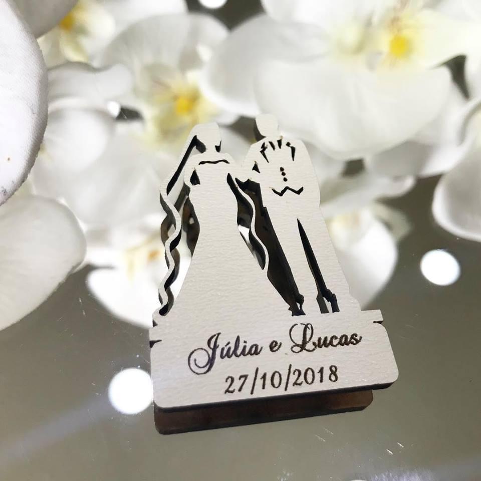 Ref. 020 -  Ímãs de Geladeira Noivos Elegance - Personalizado MDF BRANCO