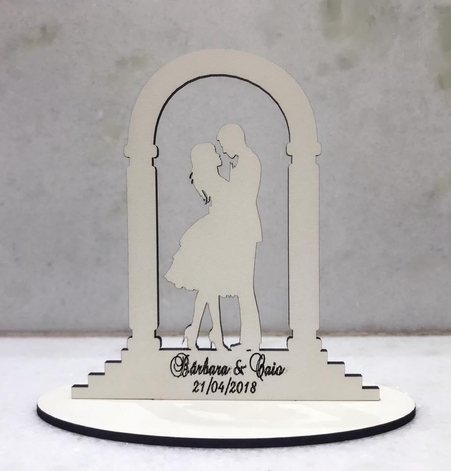 Ref. 023 - Kit Lembrancinhas Casamento Portal Personalizadas MDF Branco