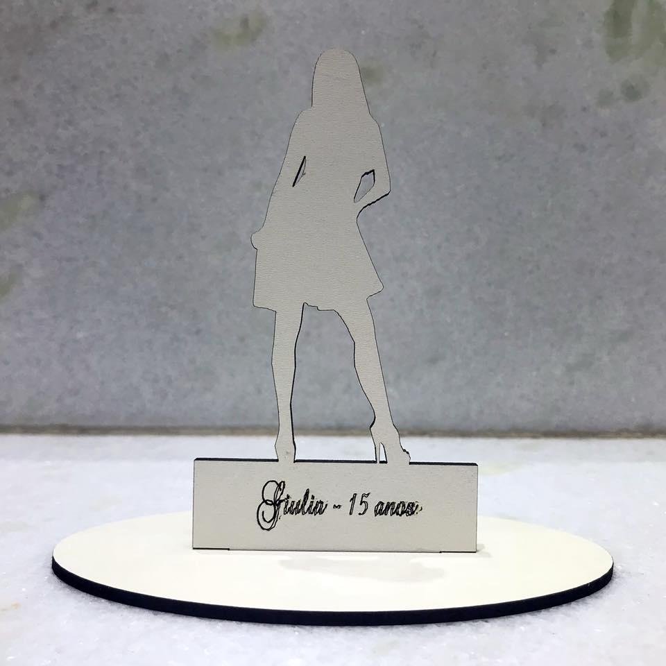 Ref. 029 - Kit Lembrancinhas Debutante 15 anos Personalizadas MDF Branco