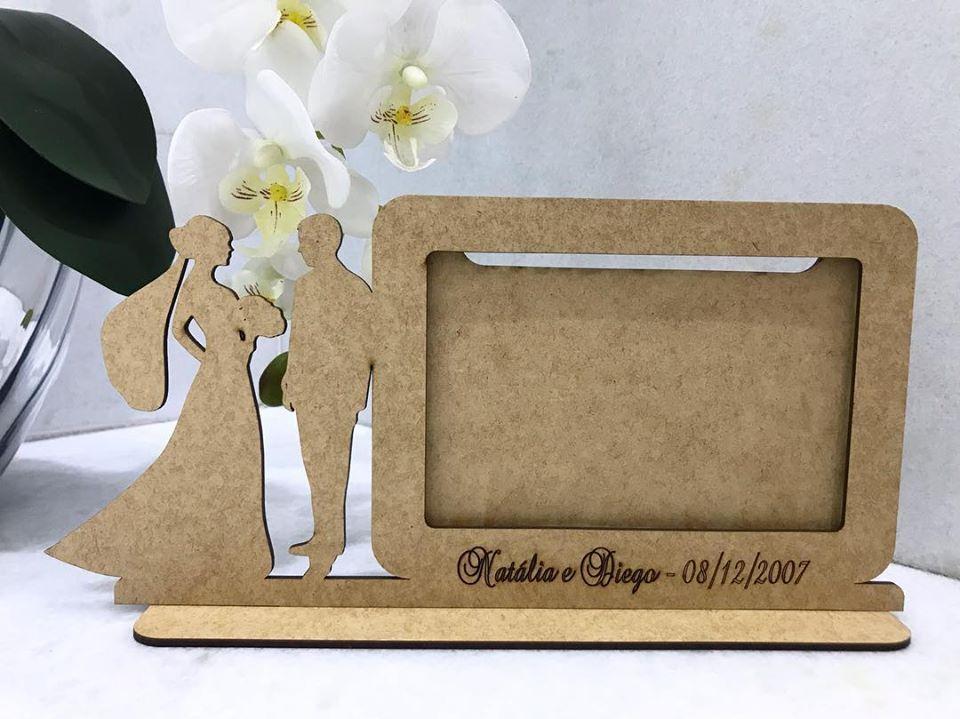Ref. 100 - Quadro Porta Retratos Padrinhos Casamento - MDF Cru