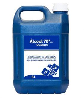 ALCOOL EM GEL ANTISSEPTICO 70 INPM 5L QUALYGEL - QUALYVINIL