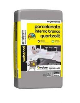 ARGAMASSA PORCELANATO BRANCA - QUARTZOLIT