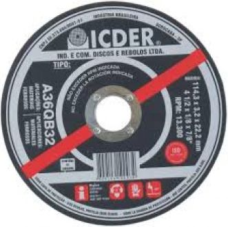 DISCO DE CORTE A36QB32 - ICDER