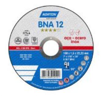 DISCO DE CORTE BNA12 PARA ACO E INOX - NORTON