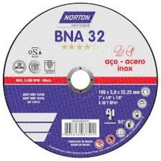 DISCO DE CORTE BNA32 PARA ACO E INOX - NORTON