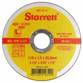 DISCO DE CORTE DAC115-14 - STARRETT