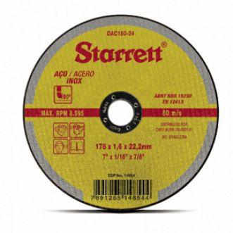 DISCO DE CORTE DAC180-24 - STARRETT