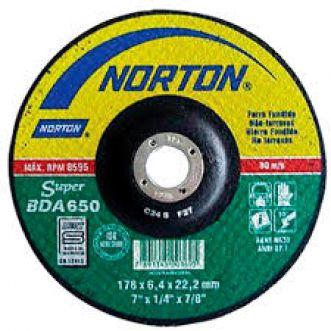 DISCO DE DESBASTE 115BDA650 SUPER PARA NAO FERROSOS - NORTON
