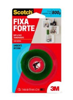 FITA DUPLA FACE ACRILICO FIXA FORTE - 3M