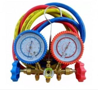 MANIFOLD GAS R12 R22 R134 R404 COM MANGUEIRA 90CM VLCT636V - VULKAN