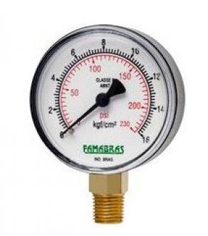 MANOMETRO 62MM OX/NIT/ARG/CO2 - FAMABRAS
