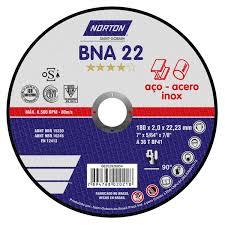 DISCO DE CORTE BNA22 PARA ACO E INOX - NORTON