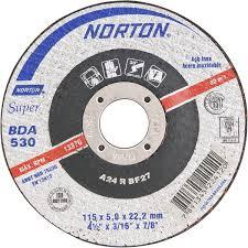 DISCO DE DESBASTE 115BDA530 SUPER PARA INOX - NORTON  - RANOVA - A maior variedade de itens MRO